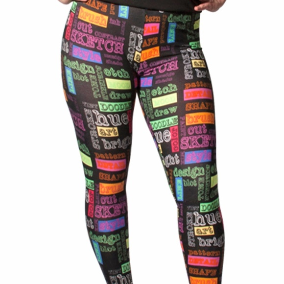 3c041af1b93194 ELEGANT4u Pants | Comic And Pop Art Printed Fashion Leggings Pn1010 ...
